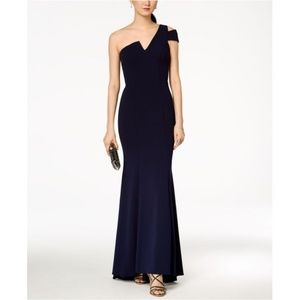 Betsy & Adam One-Shoulder A-Line Gown Night